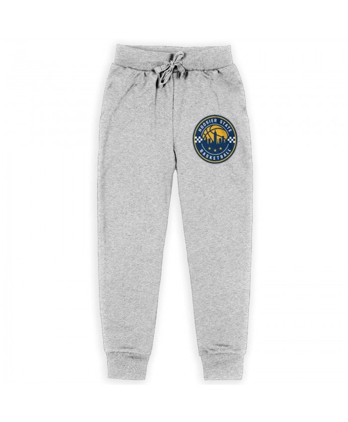 1990 Indiana Pacers Sweatpants for boys Indiana Pacers Alternate Logo Gray
