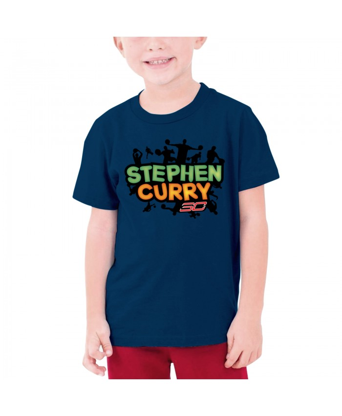 2015 Steph Curry Teenage T-shirt Stephen Curry Navy