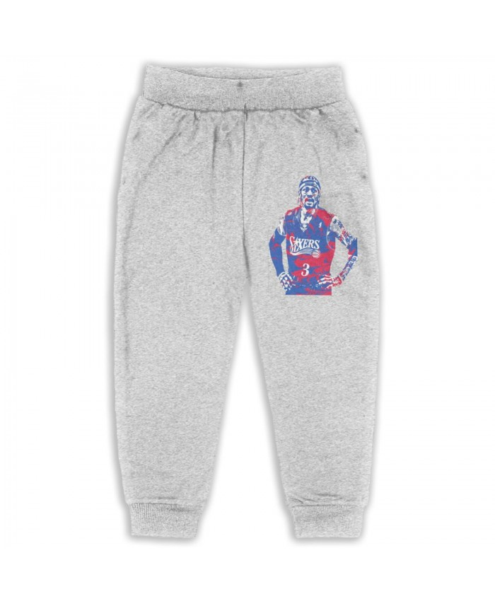 Allen Iverson Hall Of Fame Induction Sweatpants for boys Allen Iverson Gray