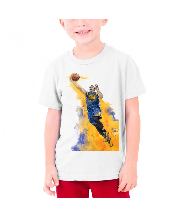 College Basketball Teenage T-shirt Steph Curry White