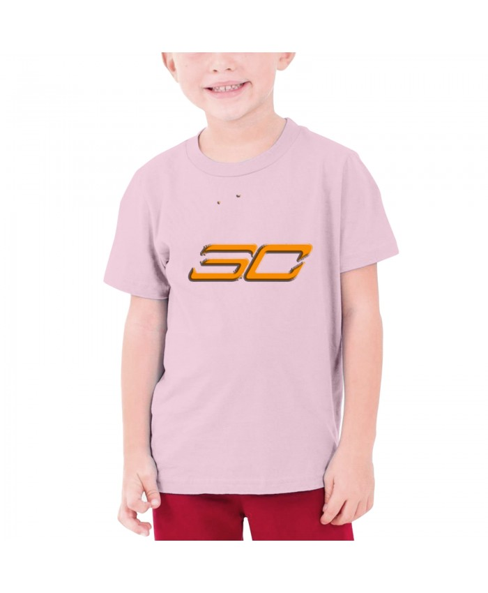 Curry Golden State Teenage T-shirt Stephen Curry SC Pink
