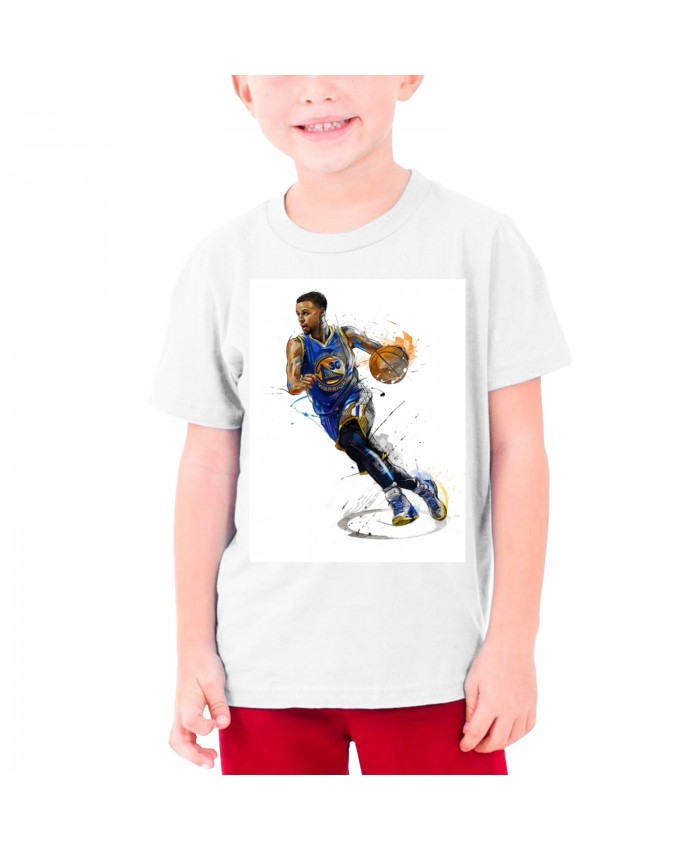 Curry Nets Teenage T-shirt Stephen Curry White