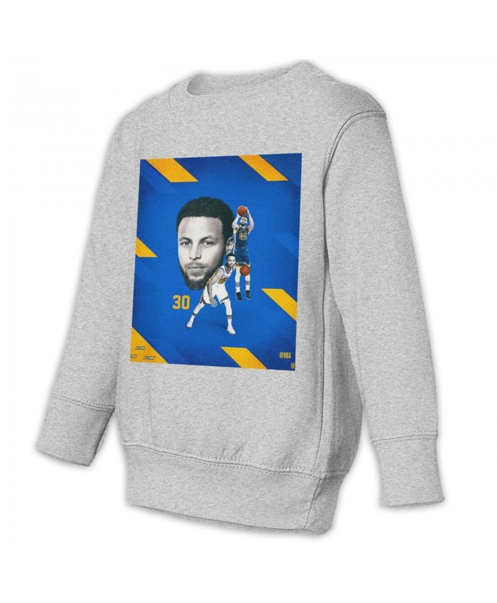 Dell Curry And Steph Curry Toddler Juvenile Sweatshirt Stephen Curry Gray