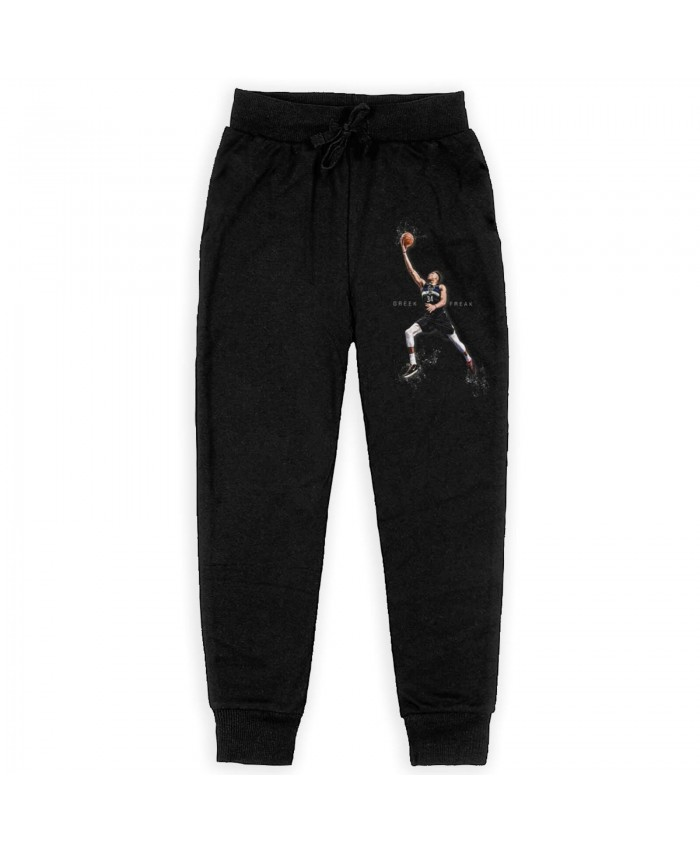 Giannis Antetokounmpo And Stephen Curry Sweatpants for boys Giannis Antetokounmpo Black