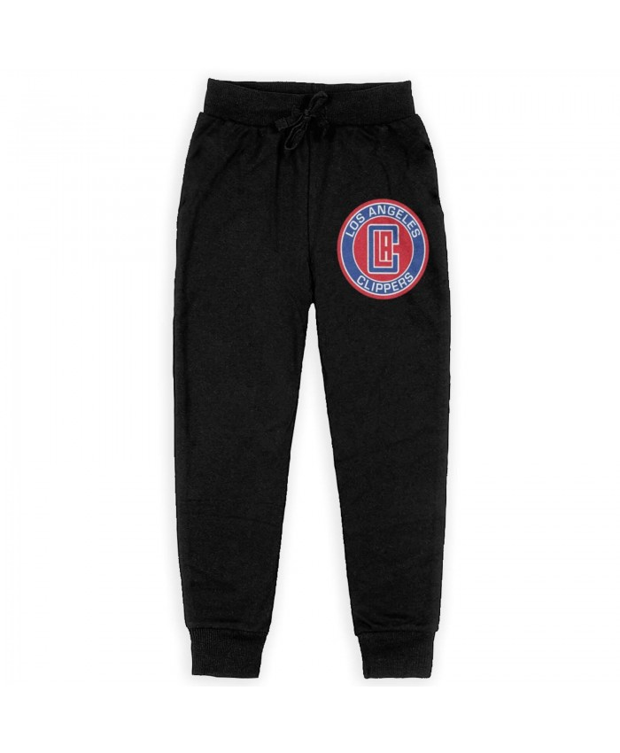 Gillian Zucker Clippers Sweatpants for boys Los Angeles Clippers LAC Black