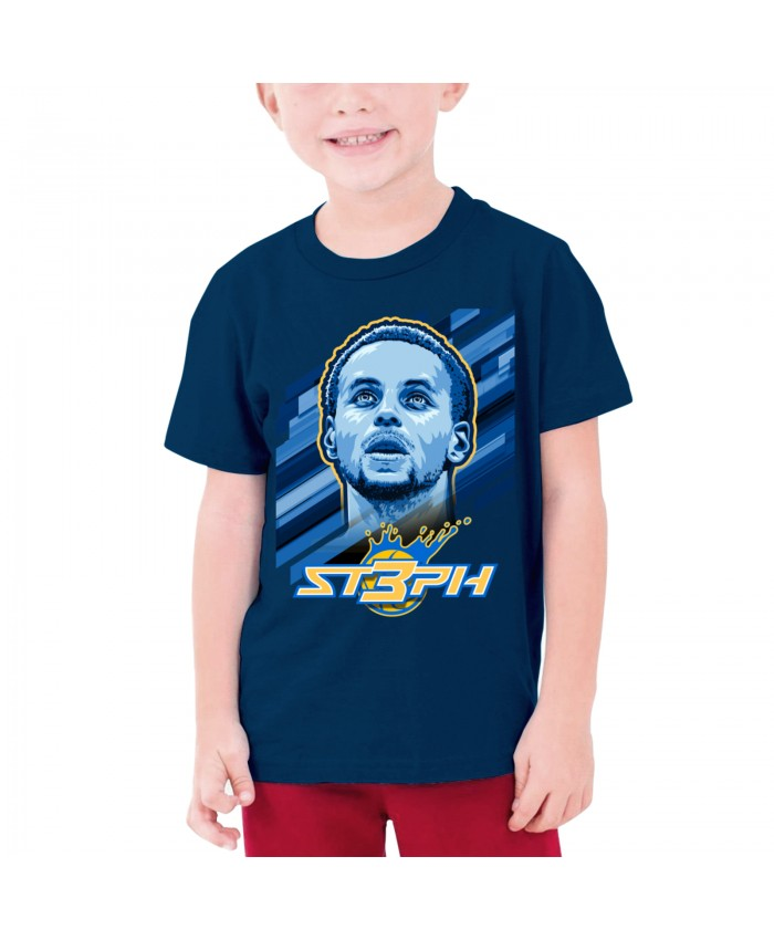 Lebron James Total Points Teenage T-shirt Stephen Curry Navy