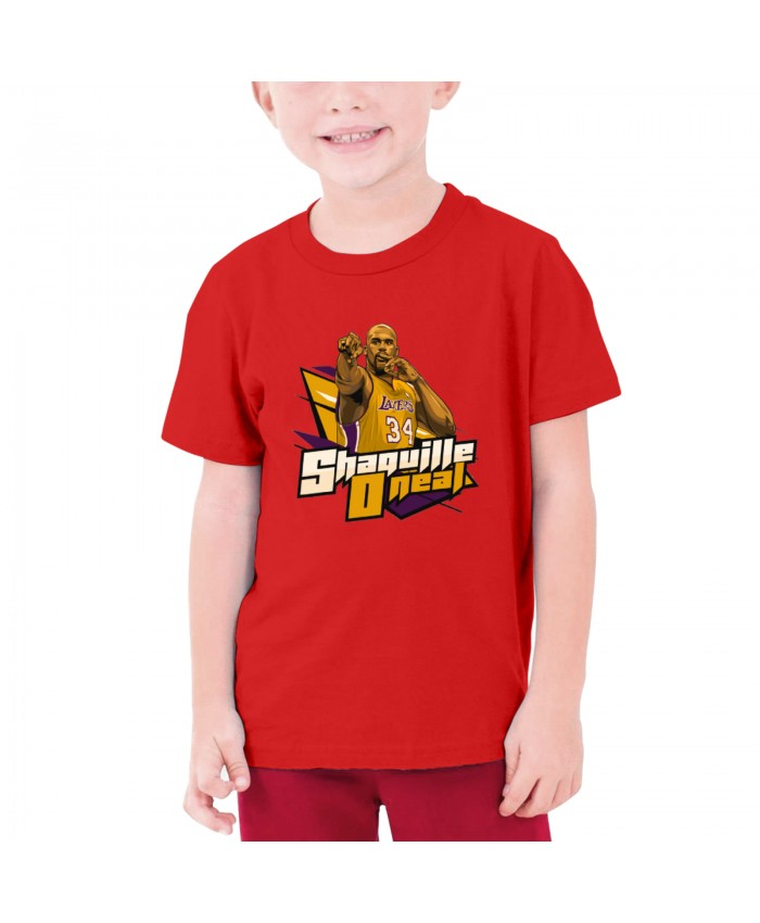 Muffet Mcgraw Teenage T-shirt Shaquille O'Neal Red