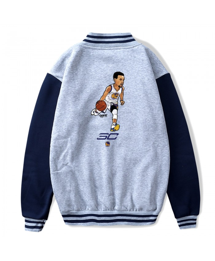 Neymar And Curry Baseball Uniform Jacket Sport Coat Basket Ball Backgrounds Stephen Curry For 2019 Gray