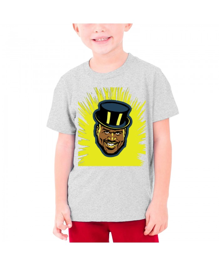 Shaq Old Spice Teenage T-shirt Shaquille O'Neal Gray