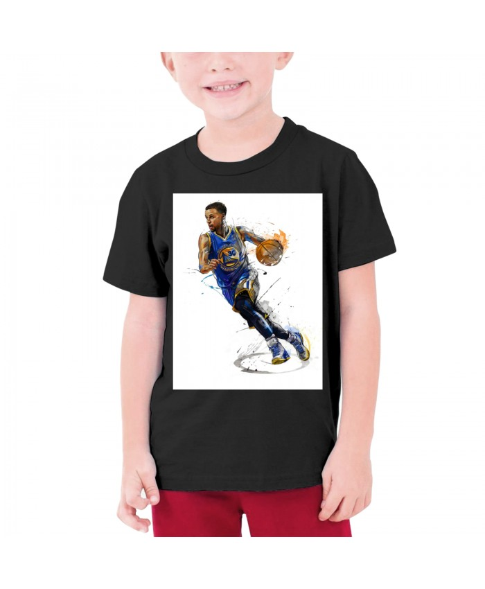 Steph Curry Laughing Teenage T-shirt Stephen Curry Black