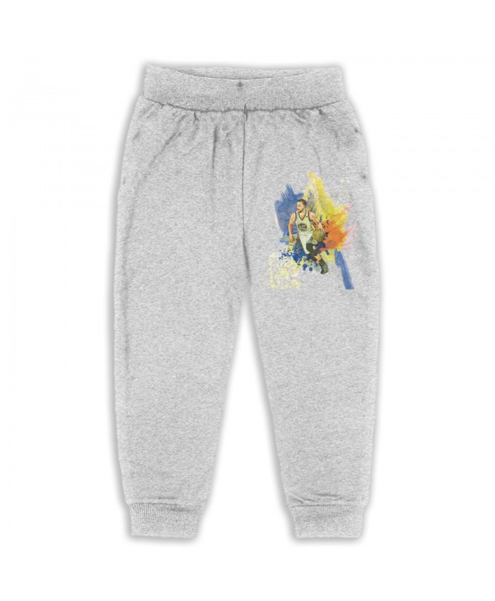 Steph Curry To The Nets Sweatpants for boys Stephen Curry Gray