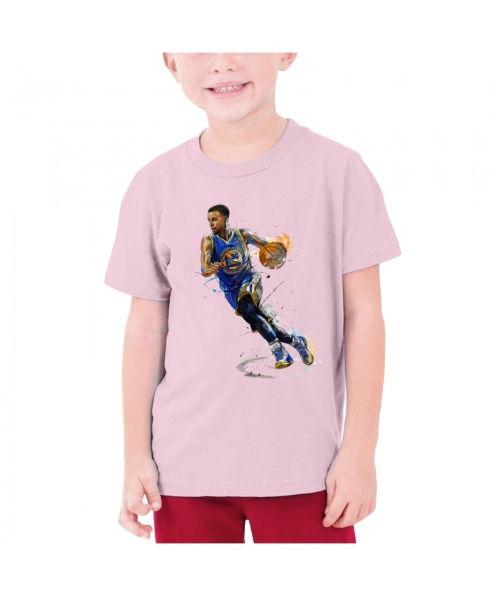 Stephen Curry Drake Teenage T-shirt Stephen Curry Pink