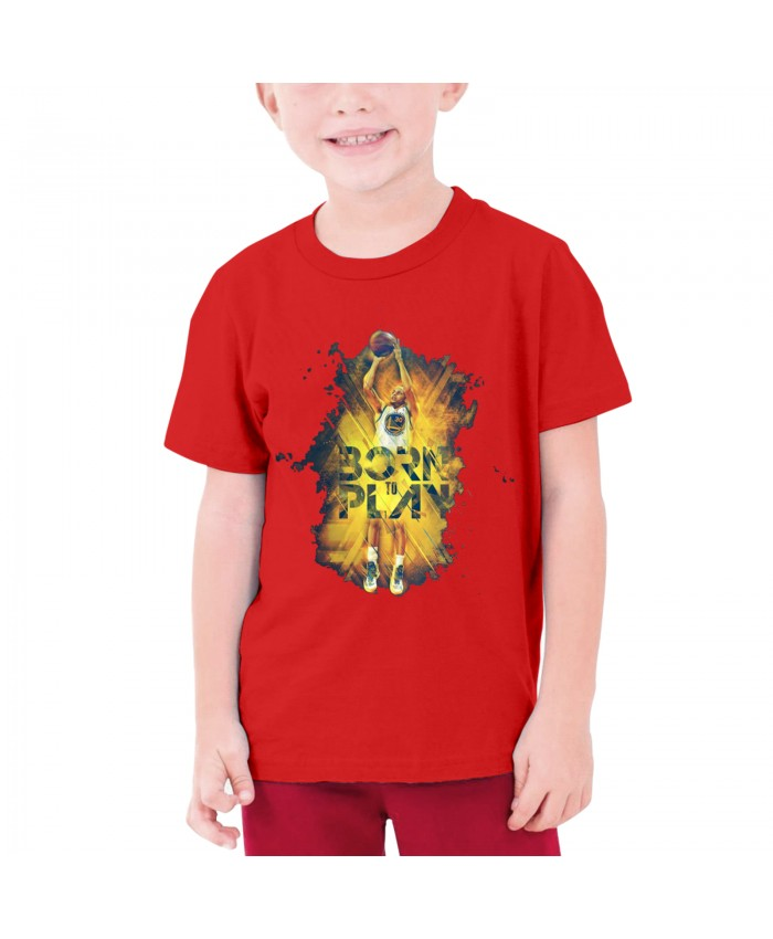 Stephen Curry Klay Thompson Teenage T-shirt Stephen Curry Red