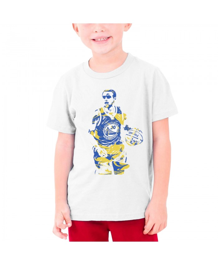 Stephen Curry Sydel Curry Teenage T-shirt Stephen Curry Golden State Warriors White