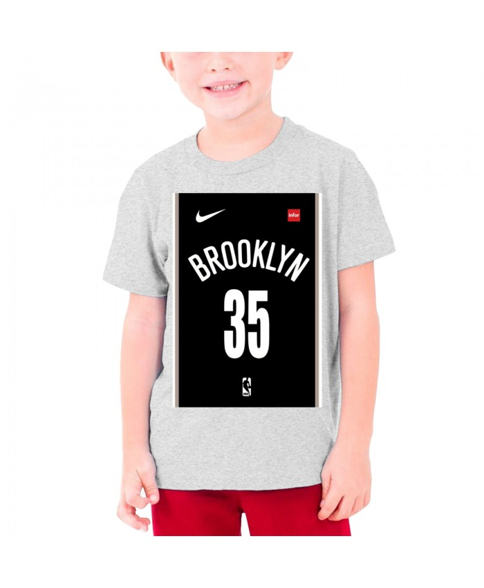 Wizards Schedule Teenage T-shirt Kevin Durant Gray